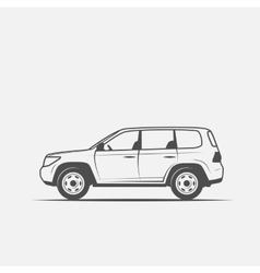 grayscale image of the car vector image