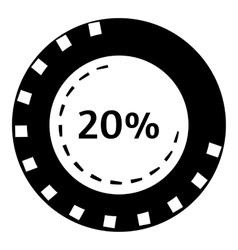 Twenty percent download icon simple style vector