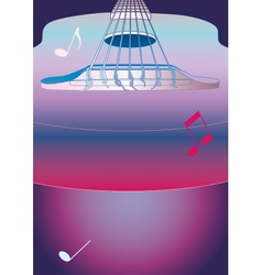 Music background or poster with guitar vector