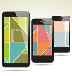 Modern smartphone abstract design vector