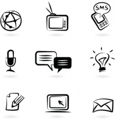 Communication technology icon vector
