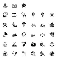 33 black travel icons 02 vector