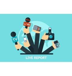 Live report concept vector