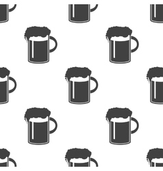 Beer in mug icon seamless vector
