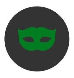 Privacy mask flat green and gray colors round vector