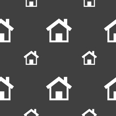 Home main page icon sign seamless pattern on a vector