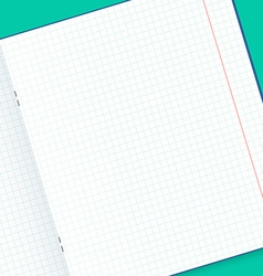 Template notebook for design handmade mock up vector
