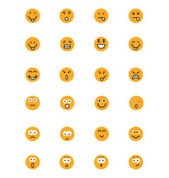 Smiley colored icons 2 vector