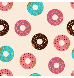 Pattern donuts with caramel topping vector