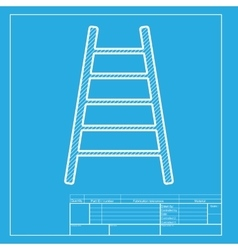Ladder sign  white section of icon on vector