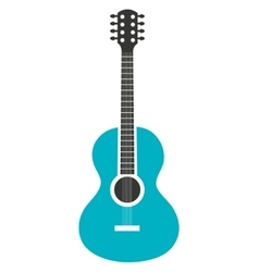 Acoustic guitar music instrument icon design vector
