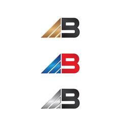 alphabet letter b logo vector image