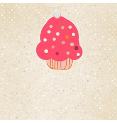 Background with cupcake and polka dot eps 8 vector