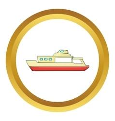 Big ship icon vector image vector image
