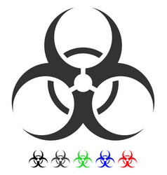 Biohazard symbol flat icon vector