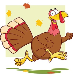 Christmas and thanksgiving turkey cartoon vector