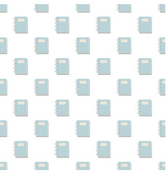 Closed spiral notebook pattern vector