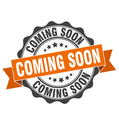 Coming soon stamp sign seal vector