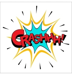 Crash sound effect vector