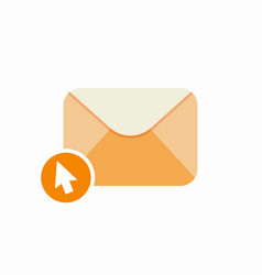 Email clicks letter message open email send icon vector
