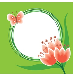 flower tulip back vector image vector image