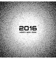 Gray new year 2016 snow flake background vector