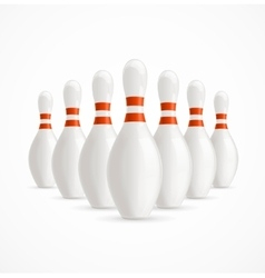 Group of White Bowling Pins vector image vector image