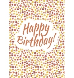 Happy birthday card cover with red yellow and vector image vector image