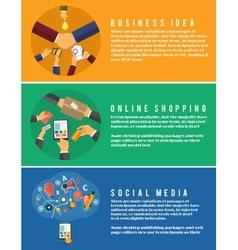 Icons for online shopping idea social media vector