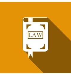 Law book icon with long shadow vector