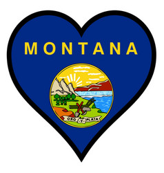 love montana vector image vector image