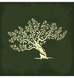 Olive tree silhouette icon isolate vector