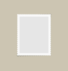 Postage stamp for postcard vector