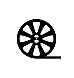 reel film icon vector image