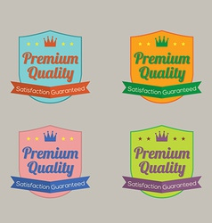 Set of Colorful Labels vector image vector image