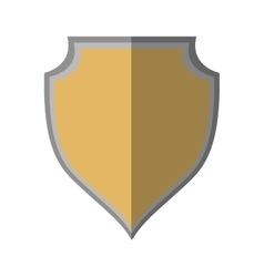 Shield protection template icon shadow vector