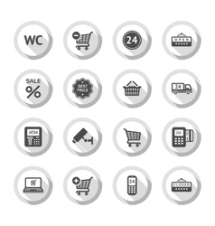 Shopping flat icons set 03 vector image vector image