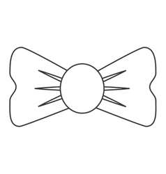 single bowtie icon vector image vector image