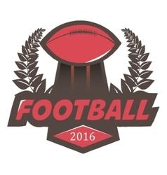 Soccer football badge logo design template vector