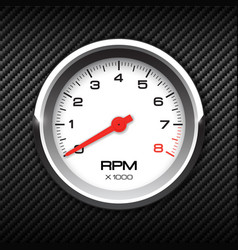 tachometer on carbon background vector image
