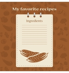 Template for recipe books vector image vector image