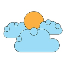 0810 clouds vector image vector image