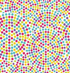 Dot circles seamless pattern vector