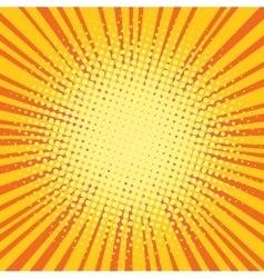 Yellow orange rays comic pop art retro background vector