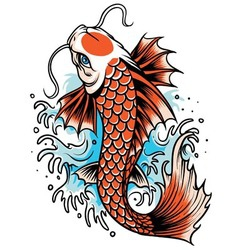 koi fish tattoo vector image