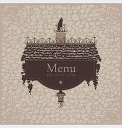 crow menu vector image