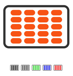 Blister flat icon vector