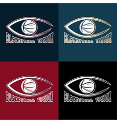 basketball vision design template vector image