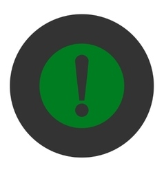 Problem flat green and gray colors round button vector