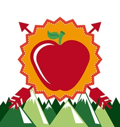 Apple whit arrows vector